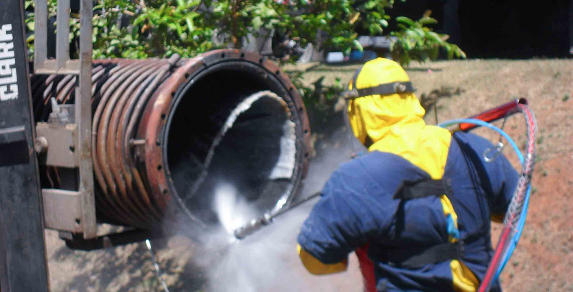 Desaguamento de lodo de eta